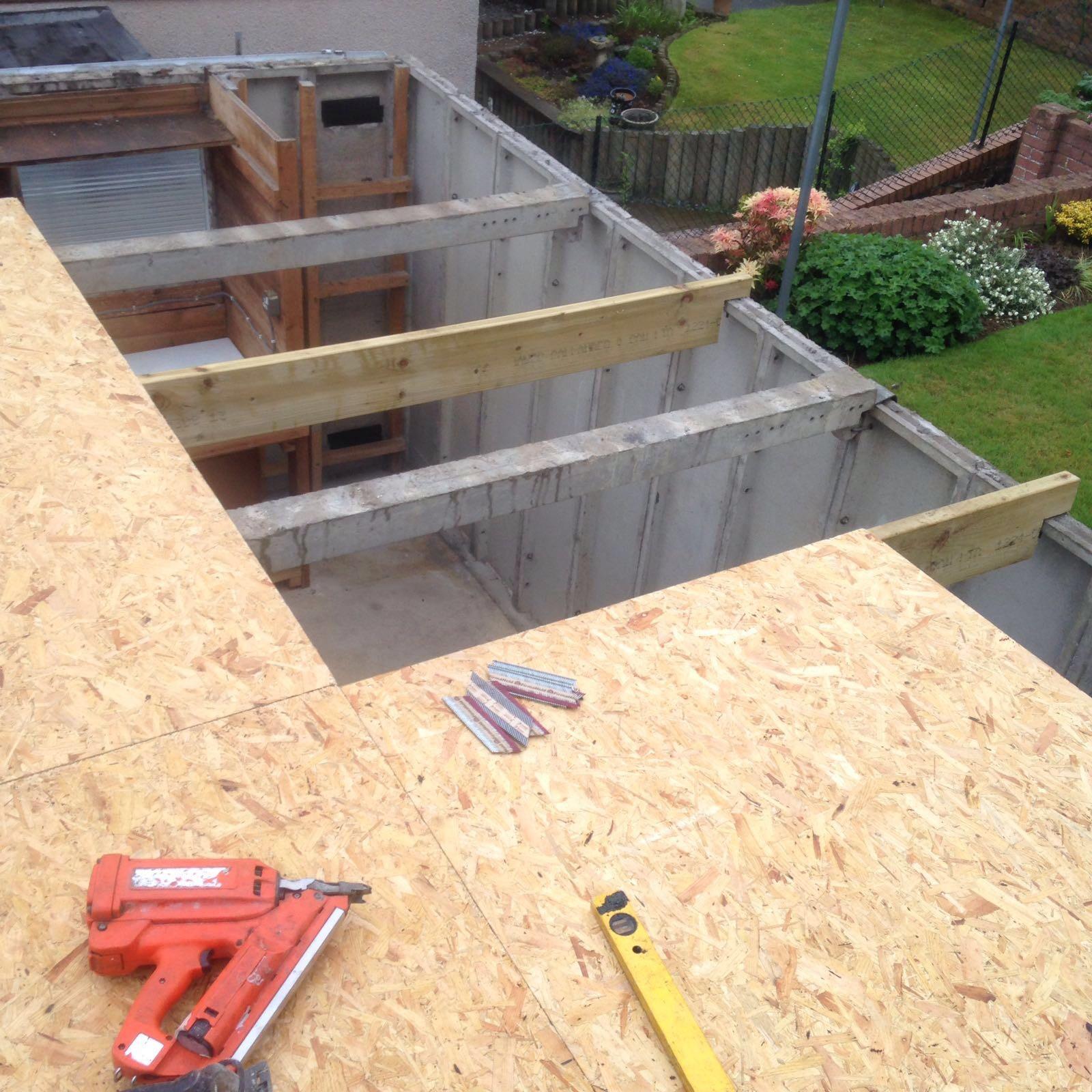Asbestos Garage Roof Renewal Edinburgh Km Roofing